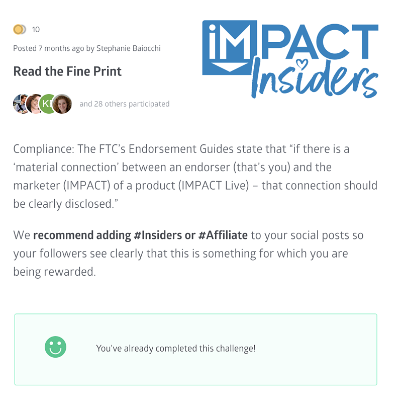 insiders ftc compliance