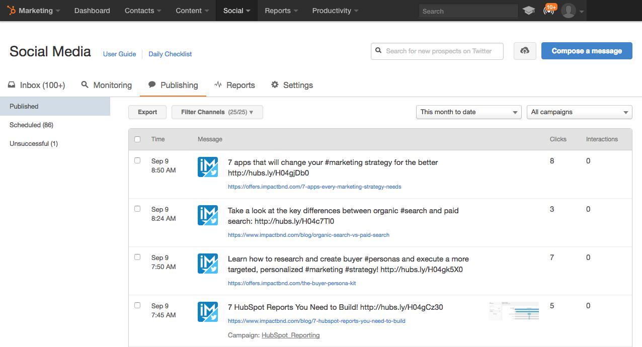 HubSpot for Beginners   Social Publishing