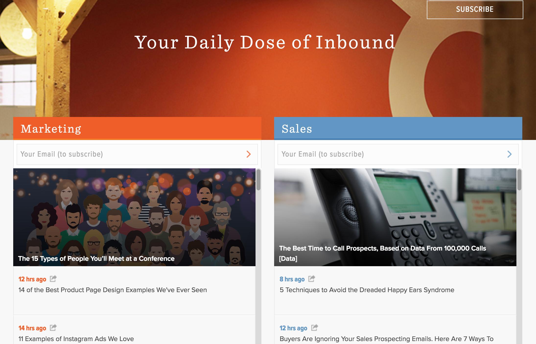 Hubspot inbound marketing blogs