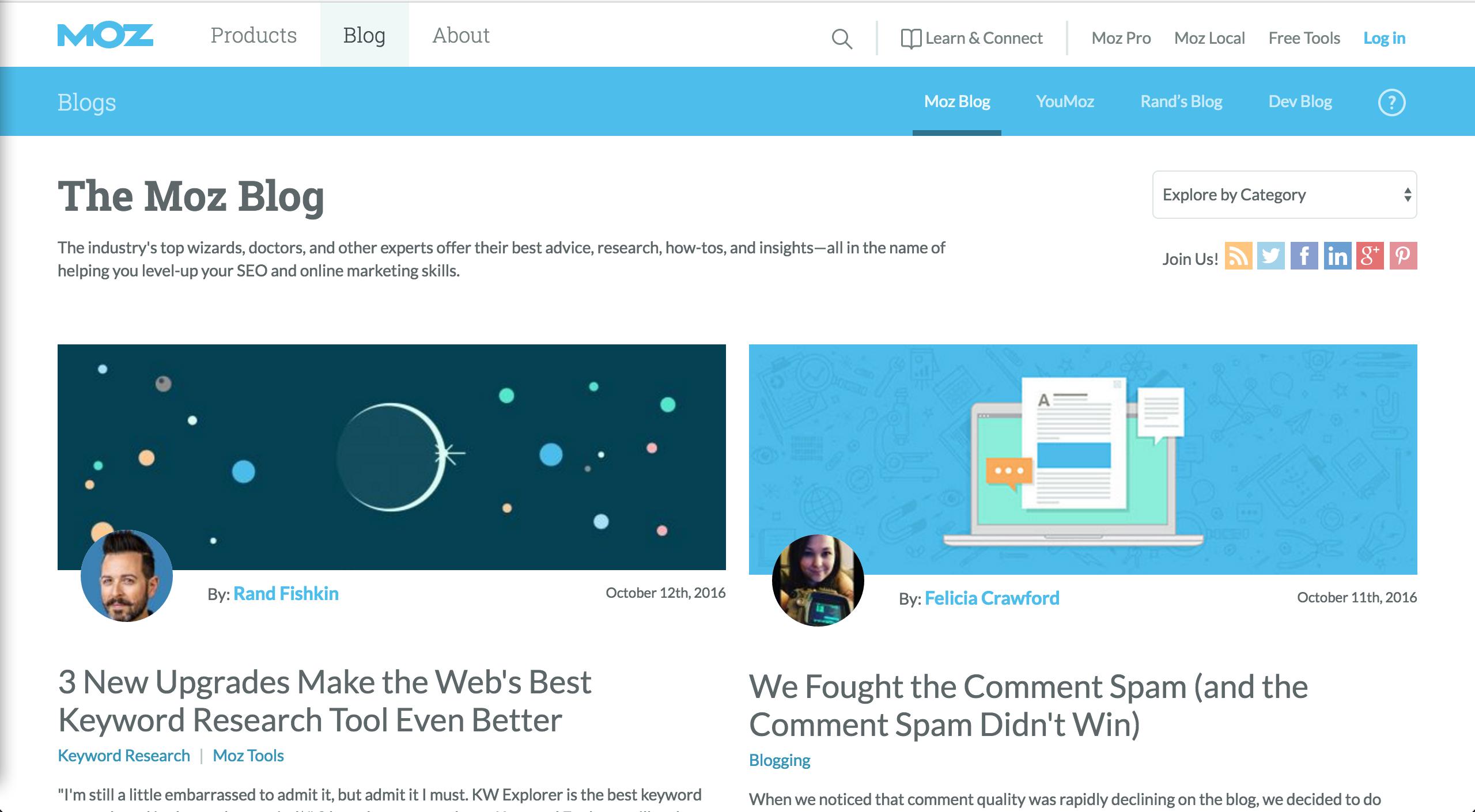 Moz inbound marketing blogs