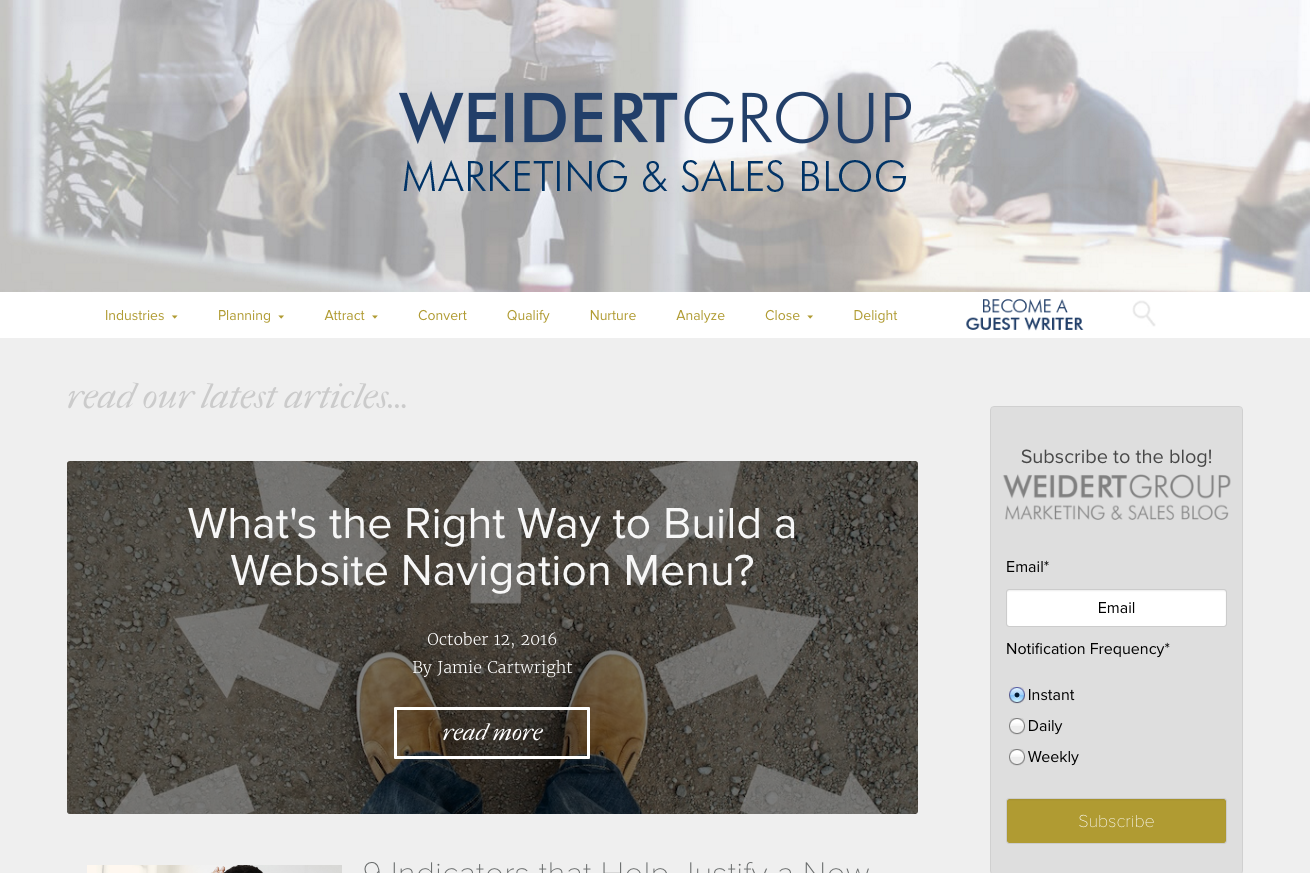 Weidert inbound marketing blogs