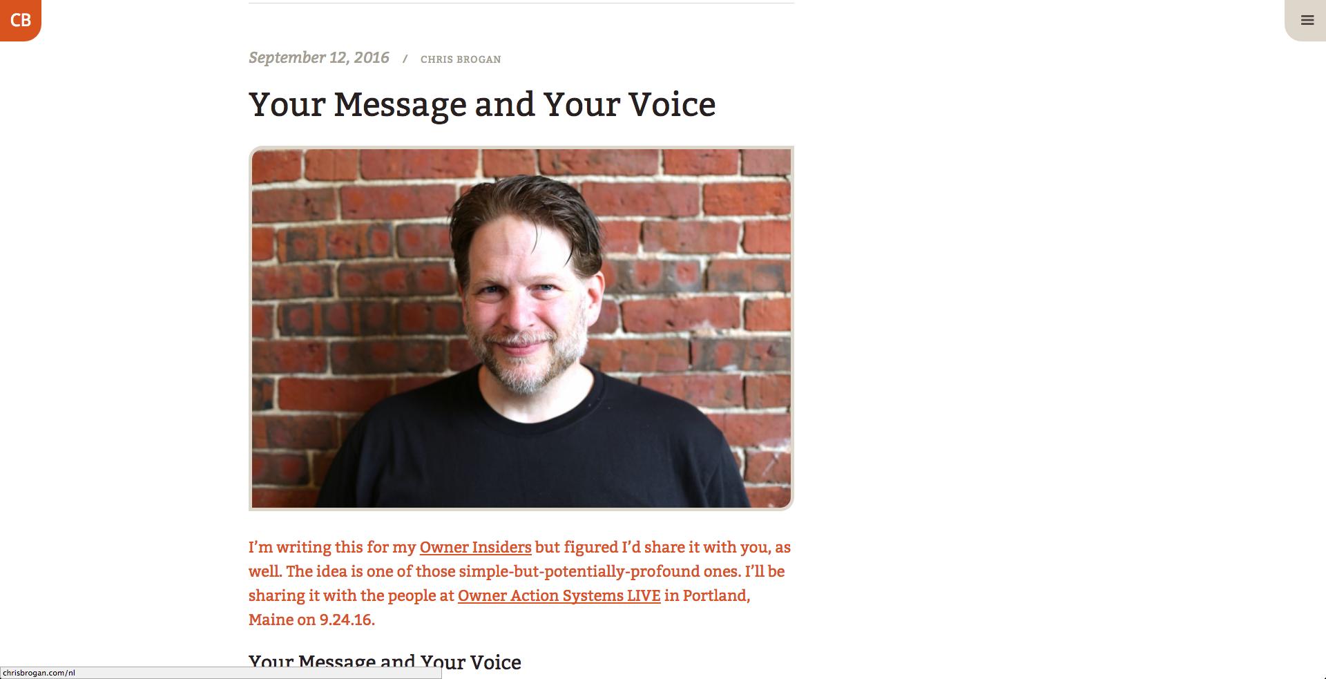 Chris Brogan inbound marketing blogs