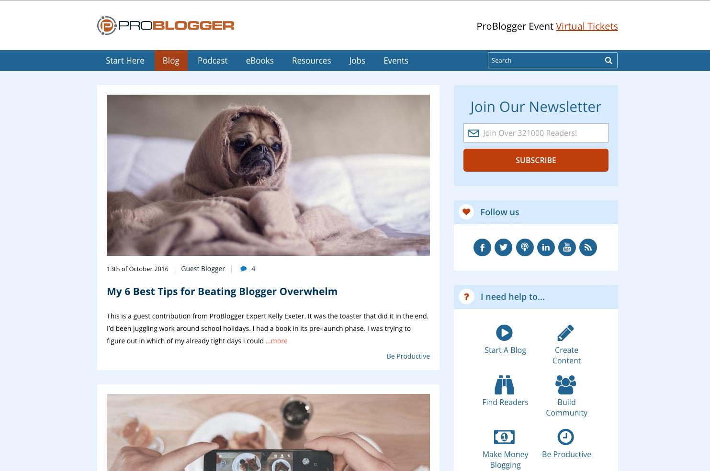 Problogger inbound marketing blogs