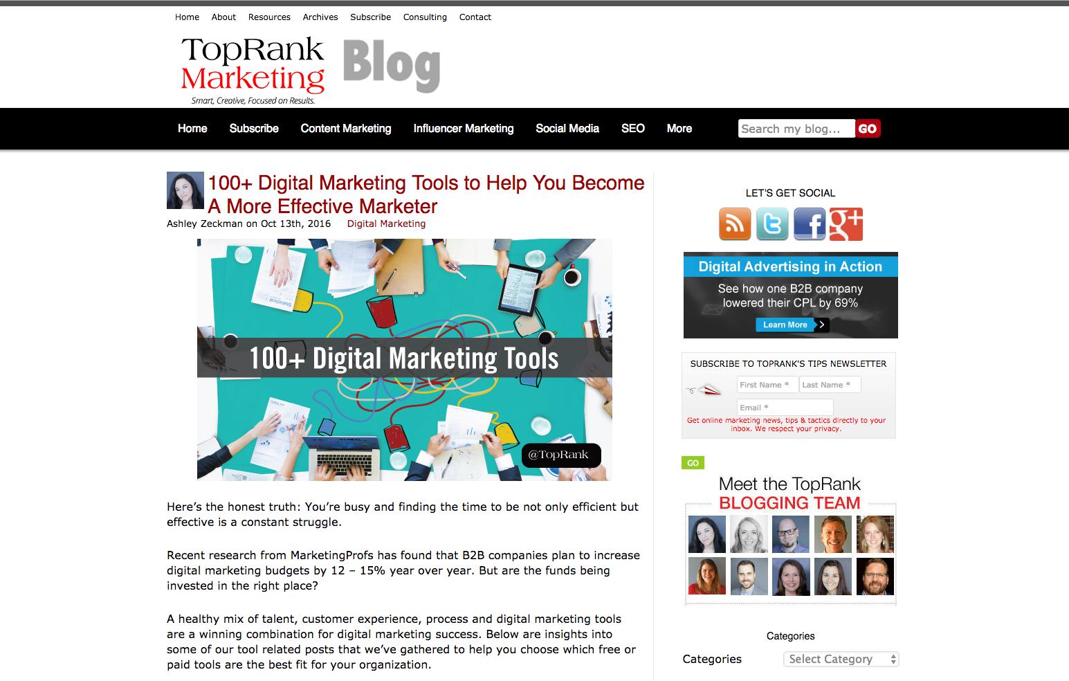 Top Rank Marketing Blog inbound marketing blogs