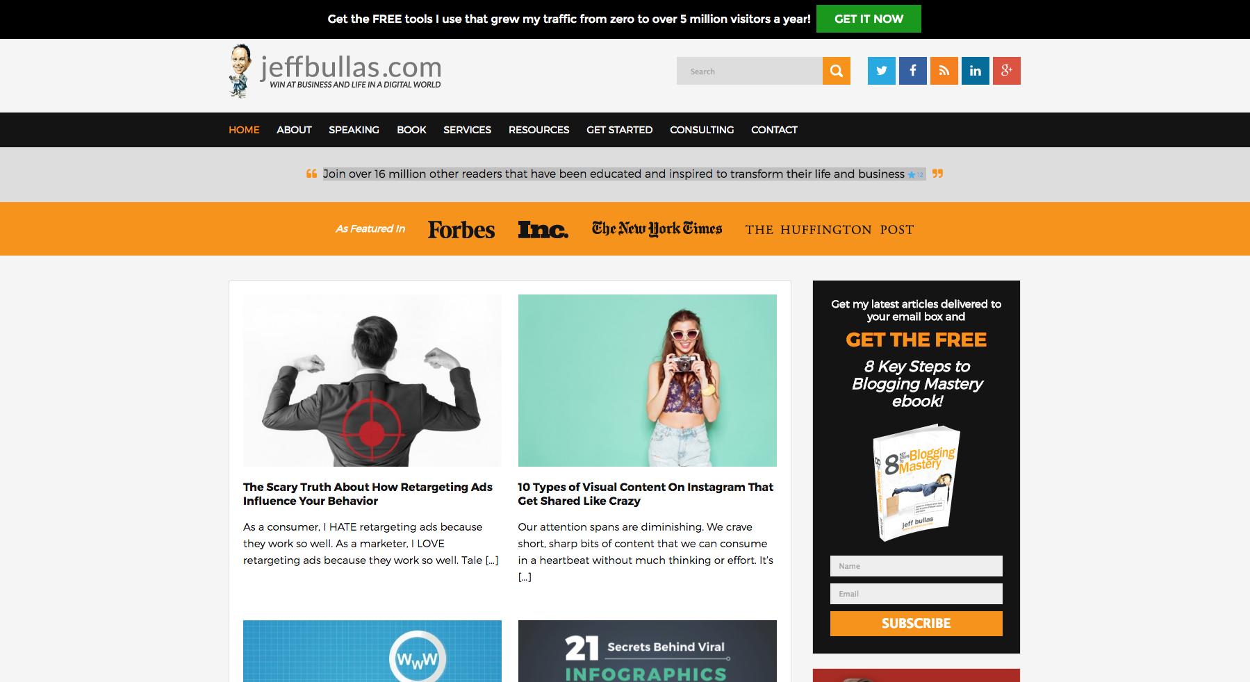 Jeff Bullas inbound marketing blogs