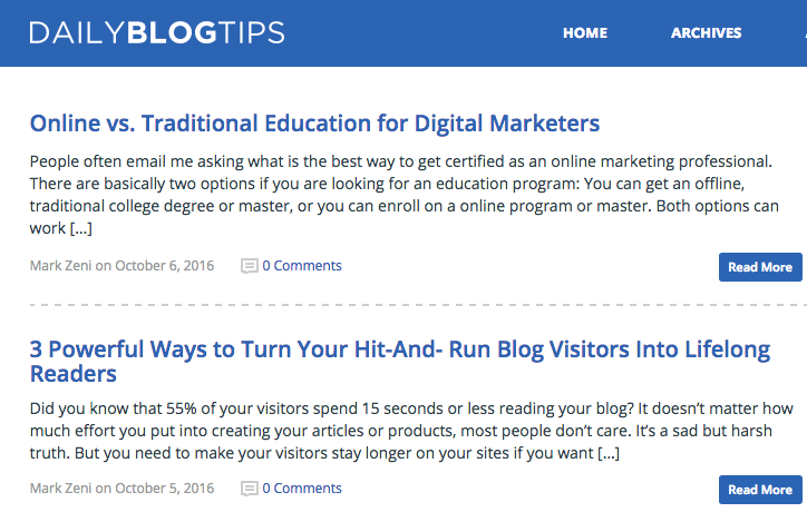 Daily Blog Tips inbound marketing blogs
