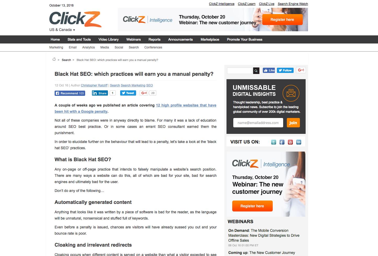 Clickz inbound marketing blogs