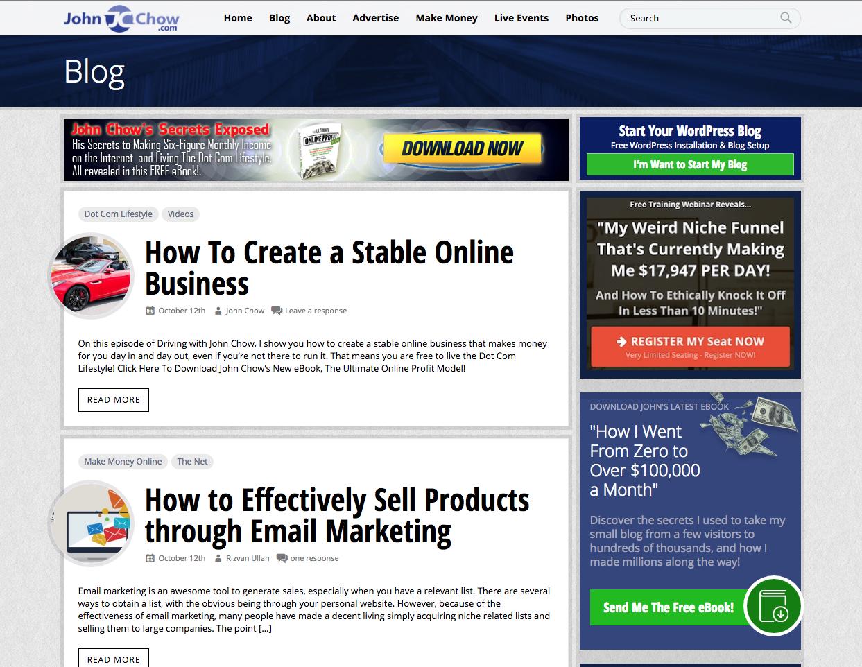 John Chow inbound marketing blogs