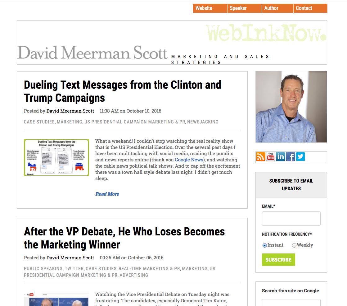 Davin Meerman Scott inbound marketing blogs