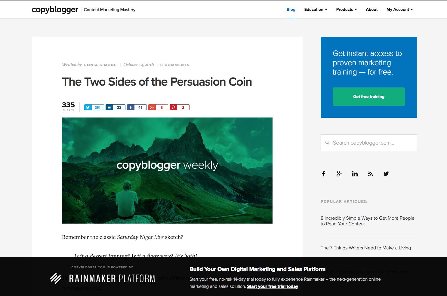 Copy Blogger inbound marketing blogs