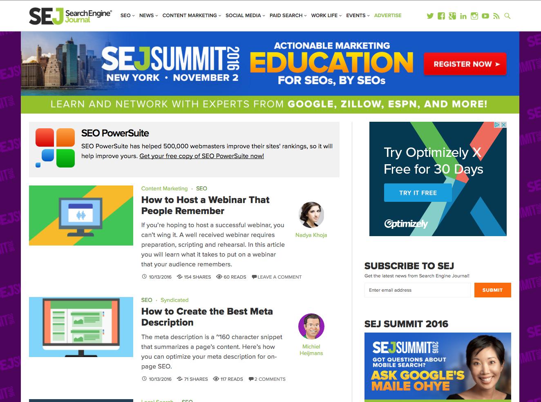 Search Engine Journal  inbound marketing blogs