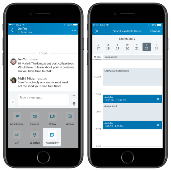 Share Availability on LinkedIn