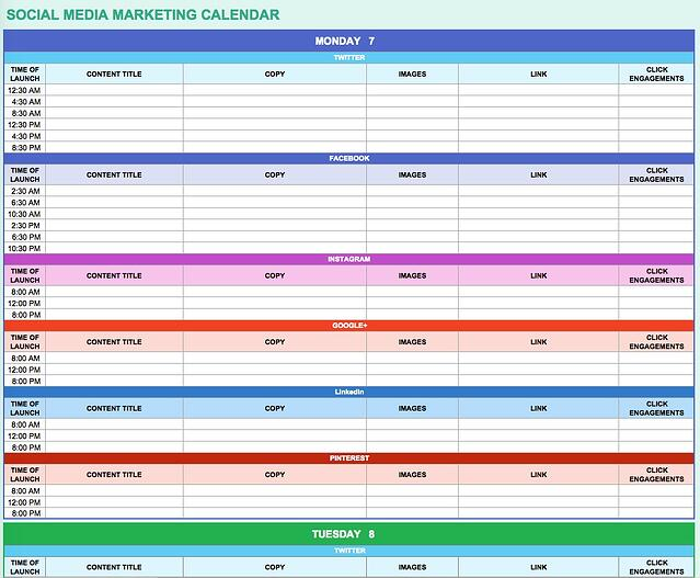 Ways Marketers Can Use Excel To Make Work Easier Free Templates - Quarterly marketing calendar template