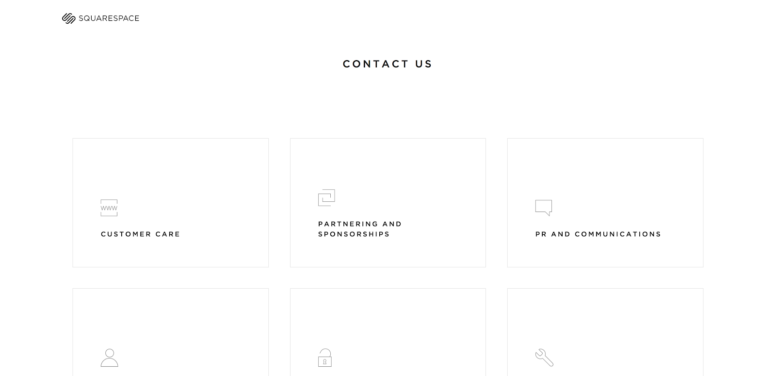 Squarespace Contact Us