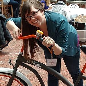 Stephanie HubSpot bike