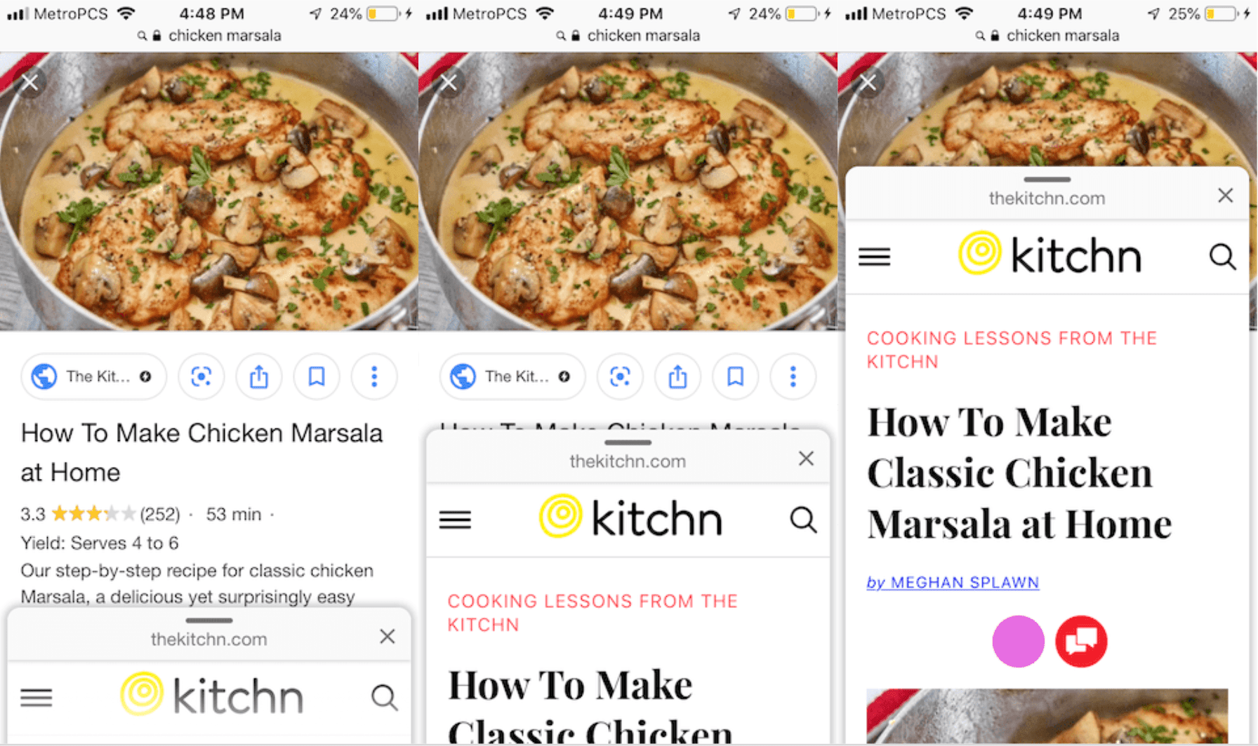 Google's New Update to Image Search: Swipe to Visit