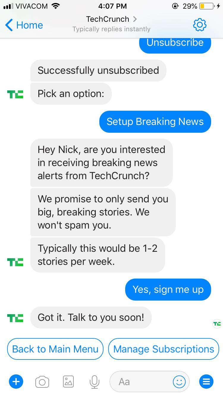 TechCrunch Chatbot2