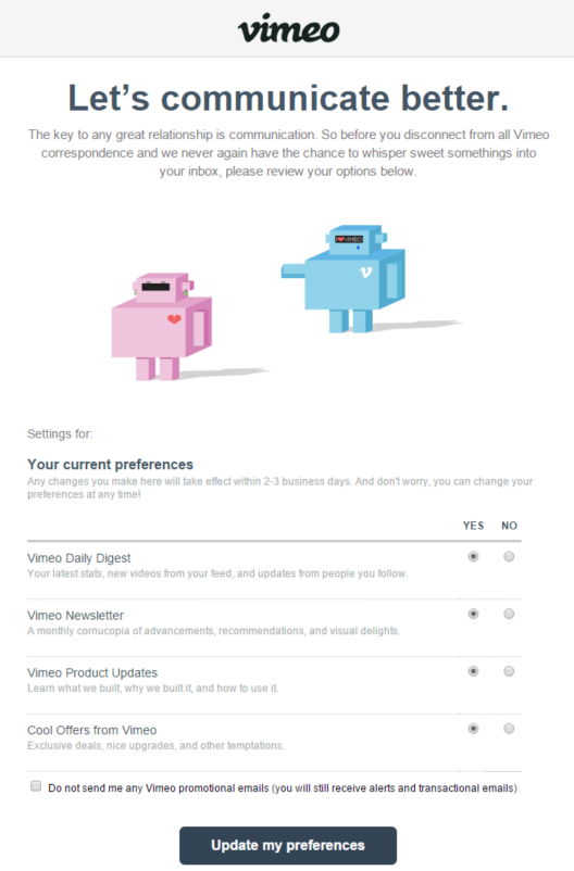 Vimeo-Unsubscribe-Page