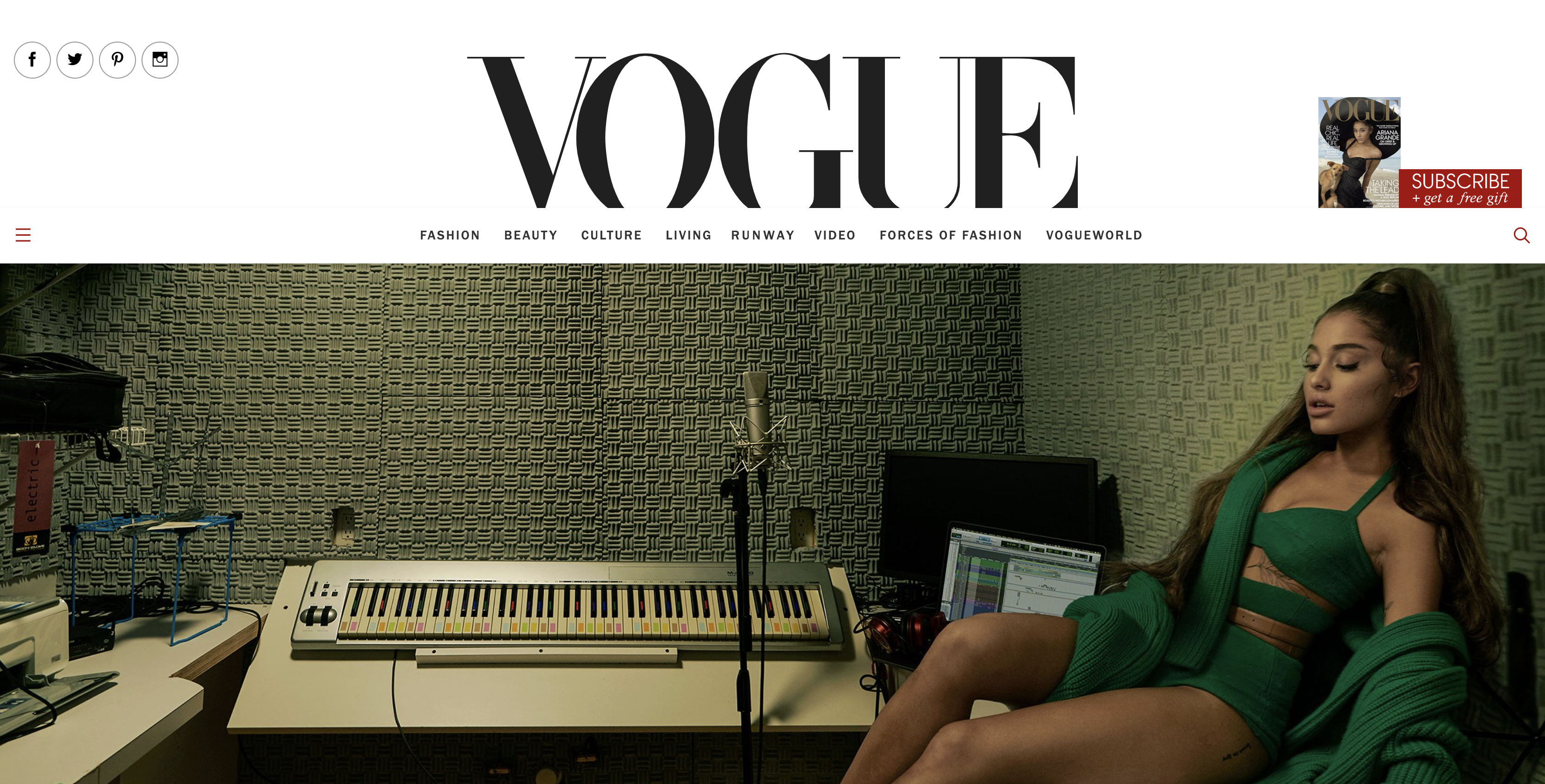Vouge Website