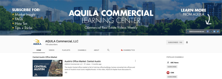 YouTube Custom Channel Banner Example