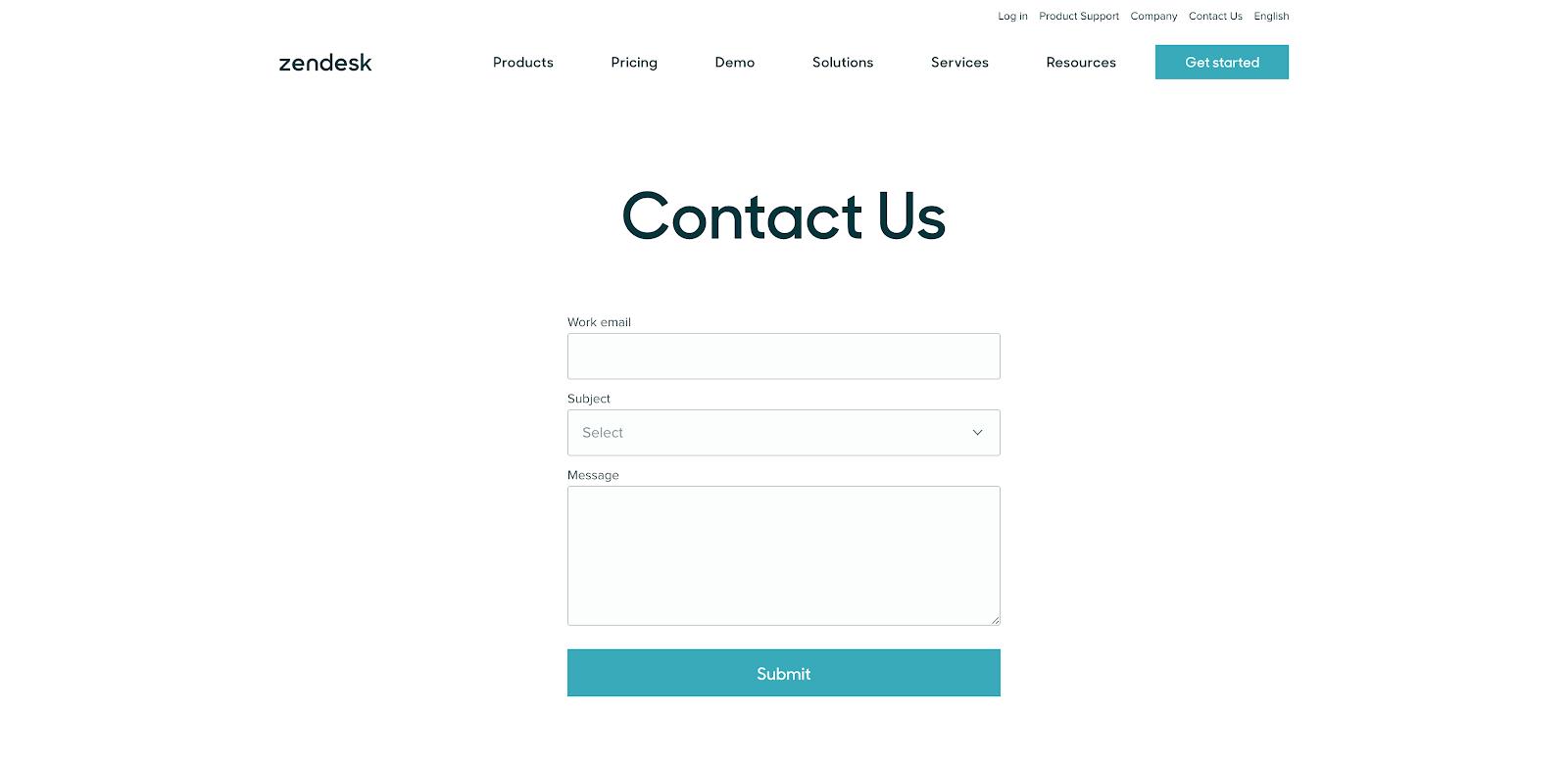 Zendesk Contact Us