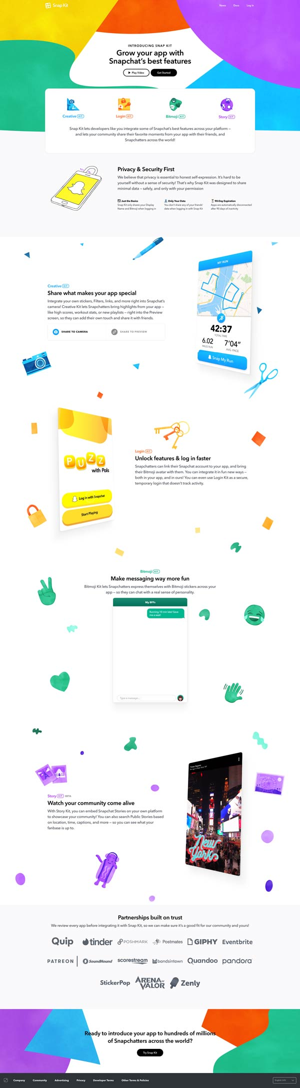 best-landing-page-examples-snapchat