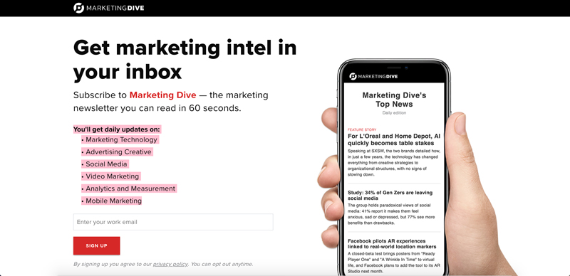 best-marketing-newsletters-marketing-dive