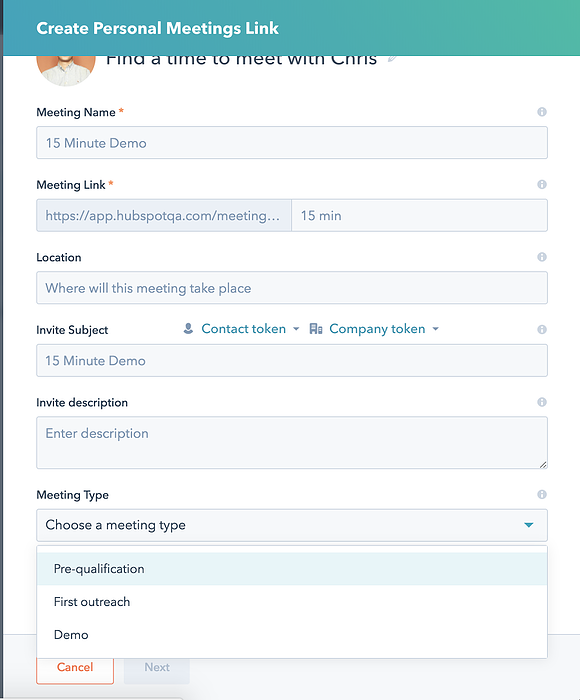 Catalogue Custom Meeting Types Directly Within the Meetings Tool