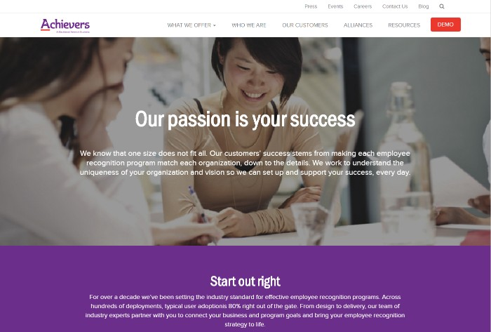 Achievers Service Page