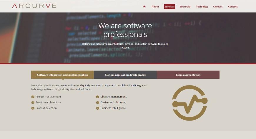 Arcurve Services Page