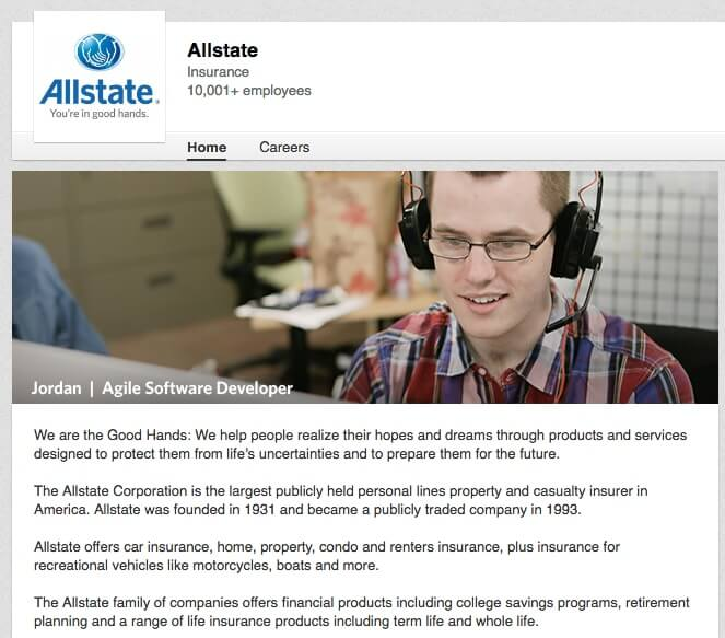 LinkedIn Company Pages Allstate
