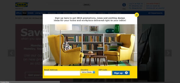 Call-to-Action Examples Ikea