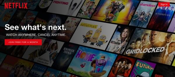 Call-to-Action Examples Netflix