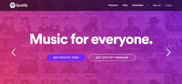Call-to-Action Examples Spotify