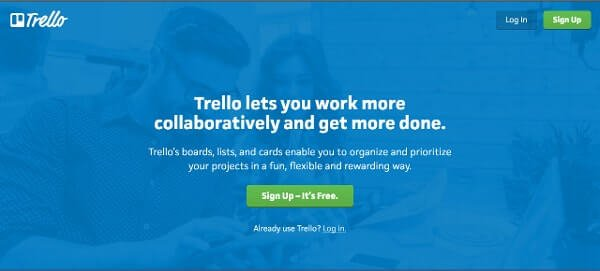 Call-to-Action Examples Trello