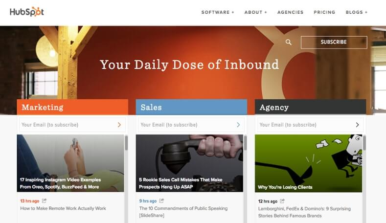 Examples of Business Blog HubSpot