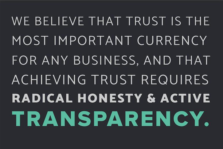 Inbound Manifesto - Transparency Block