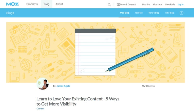 Examples of Business Blog Moz