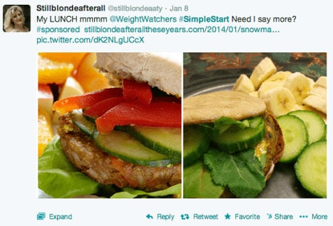 Weight Watchers Social Media Campaign Food