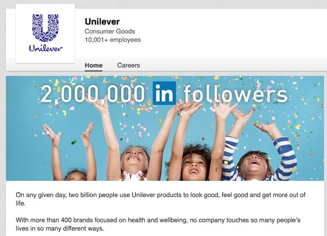 LinkedIn Company Pages Unilever