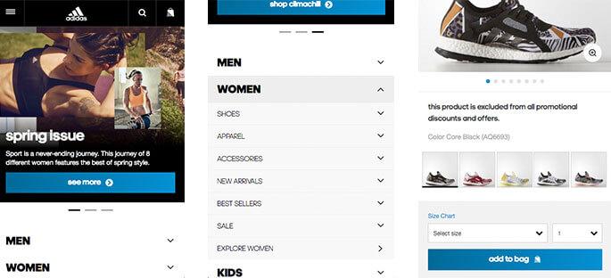 Best Mobile Websites Adidas