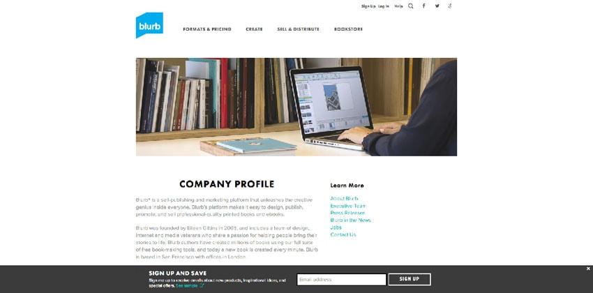 how to make company profile sample