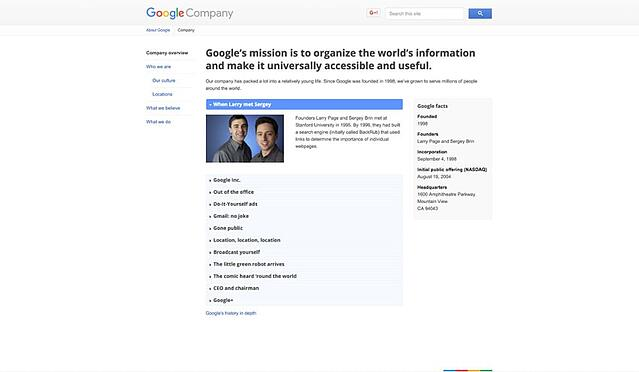 10 examples of company profile pages you can learn from free template company profile google altavistaventures Image collections