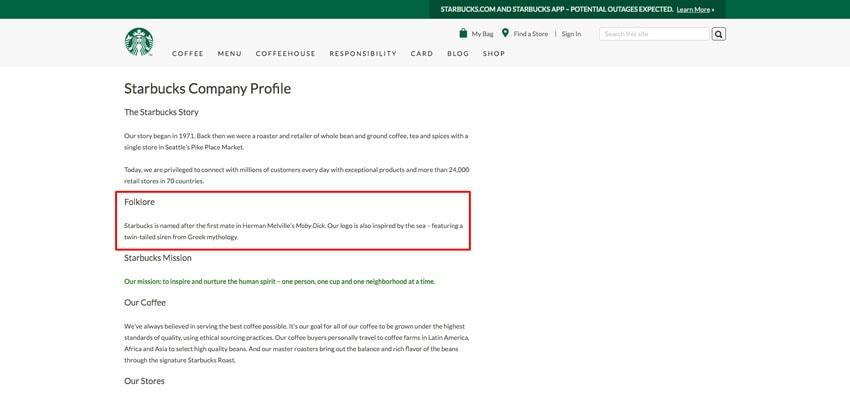 Company Profile Starbucks  Company Bio Template
