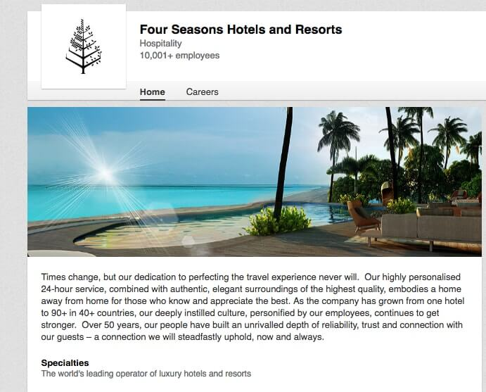 LinkedIn Company Pages four-seasons-hotel