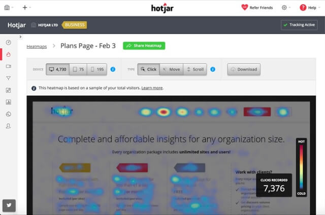 SaaS Marketing Tools Hotjar