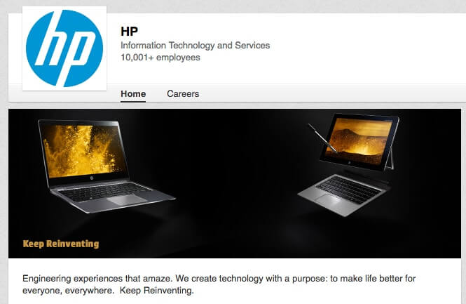 LinkedIn Company Pages hp