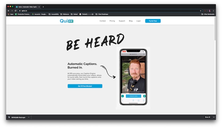 Make captioning your videos a breeze with QuiCC [IMPACT Toolbox Dec 2019]