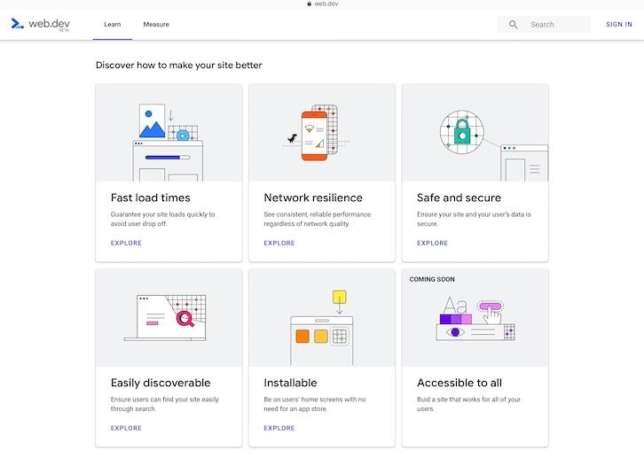 Google Web.dev - Learn