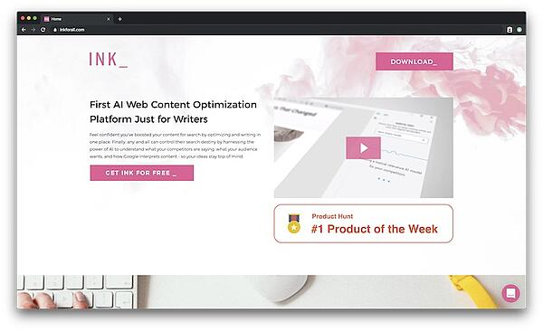 INK - the AI web content platform for writers